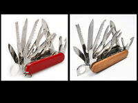 Folding Pocket Knife New Wood Tactical EDC Rescue Multifunctional Tool Survival