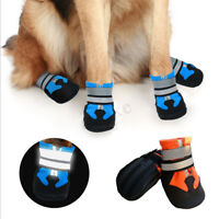 4pcs Pet Dog Anti-slip Shoes Boots Paw Protector Booties Large Safe