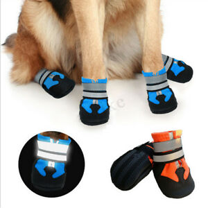 4pcs Pet Dog Anti-slip Shoes Boots Paw Protector Booties Large Safe Adjustabl