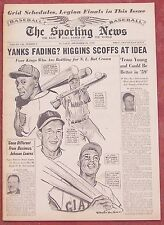 9-24-58 SPORTING NEWS MULLIN ART OF AARON MAYS MUSIAL ASHBURN ON COVER BASEBALL