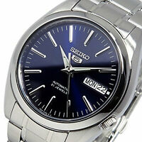 SEIKO 5 SNKL43 SNKL43K1 21 Jewels Automatic Blue Dial Stainless Steel Men Watch