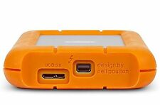 Lacie Rugged USB3 THUNDERBOLT SERIES 1TB PORTABLE EXTERNAL HARD DRIVE + CABLES