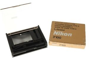 Nikon F100 focusing screen Type E in EXC+ boxed cond. F100 fit.