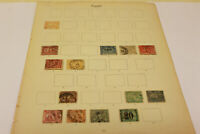2 Egypt Stamp Album Pages