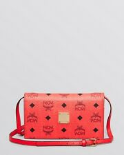Brand New MCM Crossbody - Visetos Wallet Red/Pink