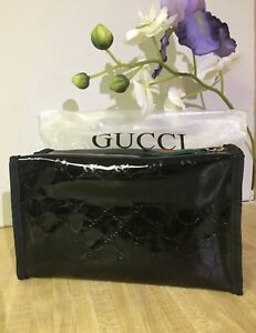 New Gucci Guilty Parfums Black Case Pouch Make Up Bag Toiletry Dopp Kit.