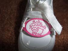 Baby Annabell Muñeca Par Zapatos con Cordones en Blanco Patente