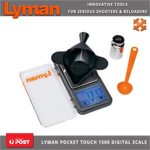 Lyman Pocket Touch 1500 Digital Scale Kit Grain Powder Capacity Reloading Funnel