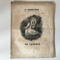 Spartito Il Appuntamenti Poesia Royer Varì Musica Labarre Francia Musicale XIX