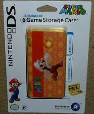 NINTENDO DS DSi OFFICIAL GAME CARTRIDGE CASE HOLDER BRAND NEW! Mario Fire Orange