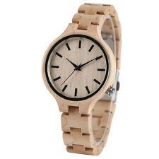 Elegant Bamboo/Maple Full Wood Bracelet Watch Ladies Wooden Wrist Watch Womens