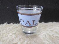 "1850 California Blue and Brown 2.25"" Shot Glass, Collectible Home Decor, Barware"