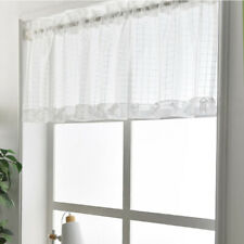 Translucent Cafe Window Half Curtain Lace Net Kitchen Sheer Tier Decor XS