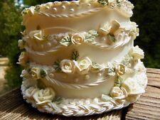 "Wedding decor candle holder cake replica pastel roses ""Candle Hugger"""