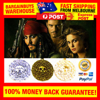 Pirates Of The Caribbean Style Cursed Aztec Coin Medallion Necklace Movie Prop