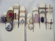 NWOT lot 20 costumes rings various styles, sizes & colors some with rhinestones