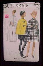 Vintage Antique Dress Pattern ORIGINAL Cape Size Medium 1960s Era Find