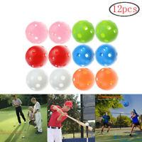 Plastic Golf Balls For Hitting Swing Practice Training Indoor&Outdoor 12 Pack
