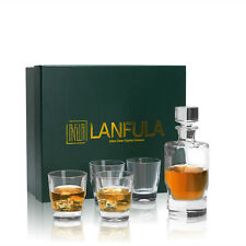 More details for lanfula whisky glass set 300ml scotch cup tumble party wedding birthday gift