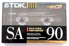 TDK SA90 HIGH BIAS IEC II/TYPE II BLANK AUDIO CASSETTE TAPE - JAPAN 1990