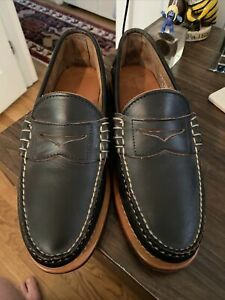 Rancourt Beefroll Penny Loafer Black 10E New!