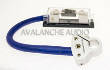 Brand New Bullz Audio 1/0 AWG Cable Kit Fuse Holder & Battery Terminal Power