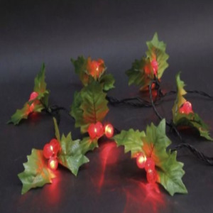 120 LED Holly Berry Red Green LED Indoor Outdoor Xmas Lights Static Function