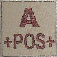 ECUSSON A+ SABLE GROUPE SANGUIN A POS POSITIF INSIGNE MEDICS MEDICALE LS