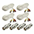 4x 50ft Video Power Security Camera Extension Cable Wire for CCTV Camera System