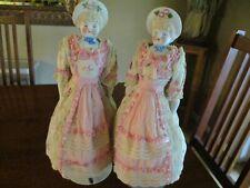 "A 20"" Pair of Antique Twin Bonnet Head German Parian Dolls"