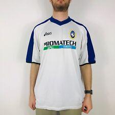 Asics Atalanta Men's XL White 2002-03 Away Football Shirt Vintage Retro