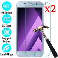 For Samsung Galaxy A6 7 8 9 Plus Accessory Tempered Glass Screen Protector 2X UK