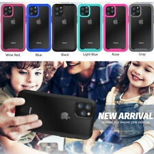 Colorful Frame+Clear Back Bumper Shockproof Protective Case Cover For iPhone 11