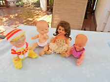 "Vintage Lot of 4 Dolls - 6 1/2"" to 8"""