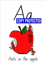 Teacher Resource- Alphabet chart A-Z frieze display- ants in the apple with CD