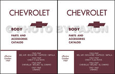 Chevy Body Parts Book 1965 1966 1967 1968 1969 Camaro El Camino Chevelle Nova II