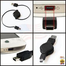 USB - MINI B RETRACTABLE CORD CABLE FOR GARMIN NUVI GPS