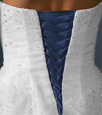 Satin Corset Kit Wedding Gown replace zipper - ALL Colors and Lengths Lace Up