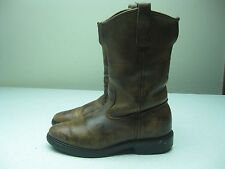 OLD BROWN DISTRESSED PECOS RED WING SUPER SOLE BOOTS 7D