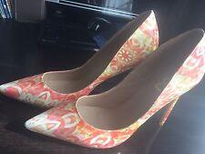 Orange/Cream/Beige FSJ Stiletto Heels Size12