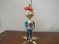 Vintage Italian Blown Glass Christmas Ornament Mouseketeer
