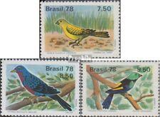 Brasilien 1651-1653 (kompl.Ausg.) postfrisch 1978 Vögel