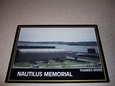 1980s THE NAUTILUS MEMORIAL SUBMARINE MUSEUM THAMES RIVER GROTON CT VTG POSTCARD