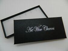 ART WINE GLASS CHARM DISPLAY/GIFT BOX ~ Holds 6 Charms/Pendants (not included)