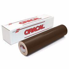 ORACAL 651 Outdoor Permanent Vinyl - BROWN 12in x 10ft Roll
