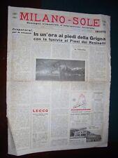MILANO - SOLE Rassegna trimestrale d'informazioni turistiche Anno I – n.1 - 1960