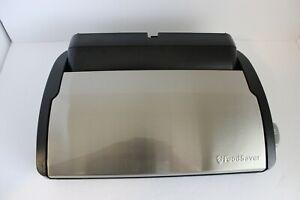 Food Saver Vacuum Sealer with plastic heat seal roll inside Black Silver