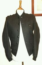 THE KOOPLES MILITARY JACKET With Badge Charcoal Size Small uk 10