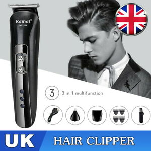 Professional Hair Clippers Mens Electric Trimmers Cutting Cordless Beard Shaver