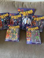 Marvel Legends Spider-Man Retro Lot Of 7 Kingpin, Green Goblin, Daredevil + More